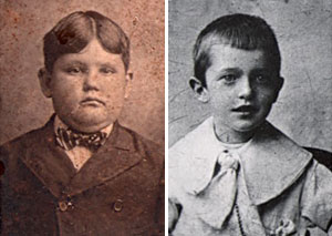 Laurel & Hardy as youth